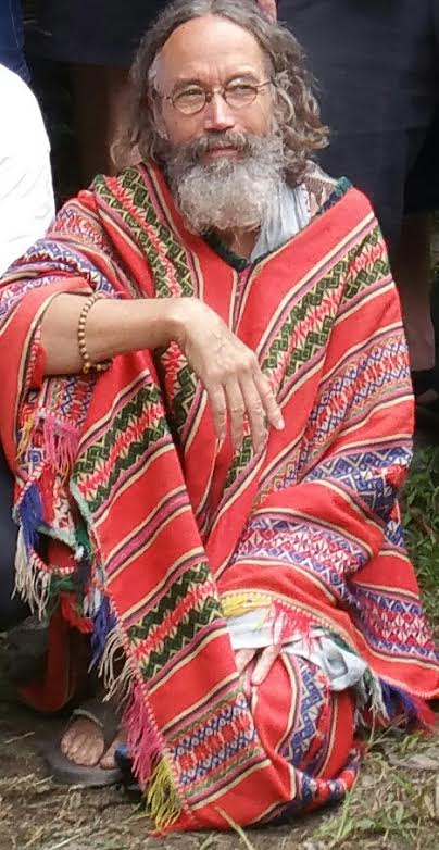 Gary Matthews, shown in a poncho.
